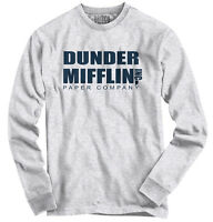 Dunder Mifflin Inc A Paper Company Funny Tv Show Holiday Gift Long Sleeve Tee