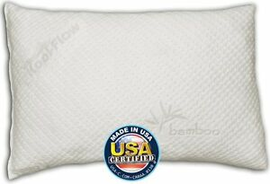 Snuggle-Pedic Shredded Memory Foam Pillow w// Bamboo Ultra-Luxury Cover Queen
