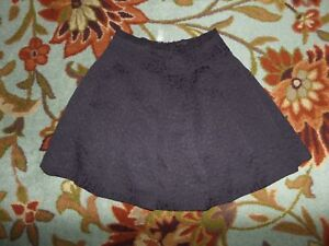 LIZ-CLAIBORNE-WOMEN-039-S-SIZE-4-BLACK-PLEATED-LINED-SKIRT-EMBROIDERED-PATTERN