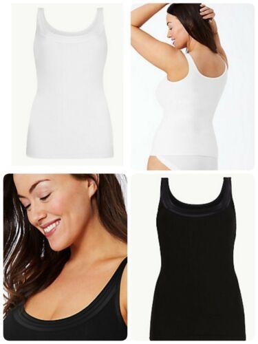Size 18-2 Womens Tummy Smoothing Control Vest Ex M/&S Shape Wear Vest