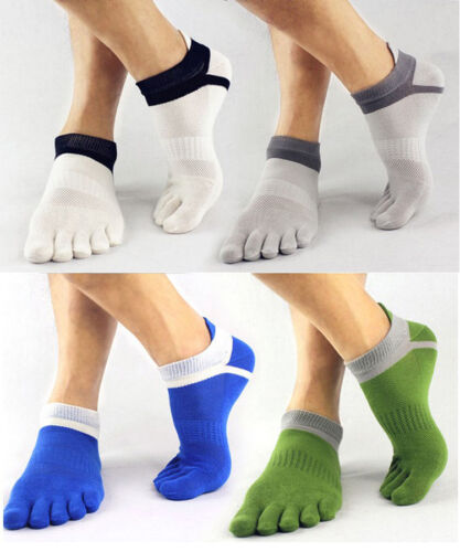 Fancy Men/'s Socks Cotton Sports Unique Five Finger Socks Toe Socks For EU40-46