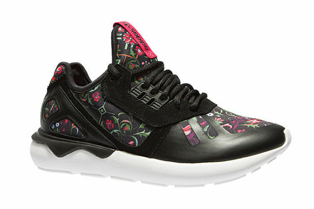 2fb4aa06e9fe adidas Originals Tubular Runner W Black Floral Womens Running Shoes ...