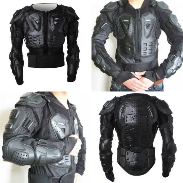 New Cool Men's Motorcycle Armor Body Guard Motocross Gear Black jacket