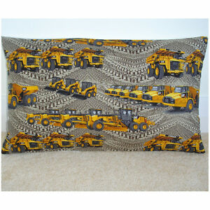 20-034-x12-034-Oblong-Bolster-Cushion-Cover-Caterpillar-Construction-Excavator-Cat-NEW