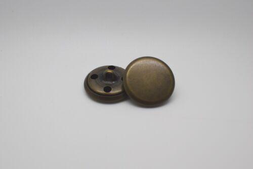 M216 FLAT Metal Italian Buttons 10-18-20mm ANTIQUE BRASS Sewing Jacket Coat