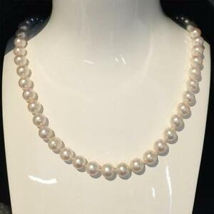 Certificate-Japanese-Akoya-Cultured-Pearl-Necklace-Solid-9k-White-Gold-7-5-8mm