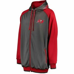 NFL-Tampa-Bay-Buccaneers-Full-Zip-Moisture-Wicking-Hoodie-Big-amp-Tall-2X-3X-4X-5X