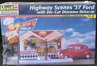 Revell Highway Scenes 1937 Ford With Diorama Drive-in