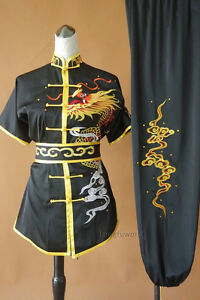 Details about Unisex Silk Embroidery Changquan Tai chi Suit Kung fu Wushu  Competition Uniform