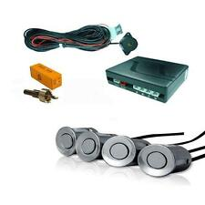 Silver 4 Point Rear Reverse Parking Sensor Kit with Speaker 12v - Toyota Avensis