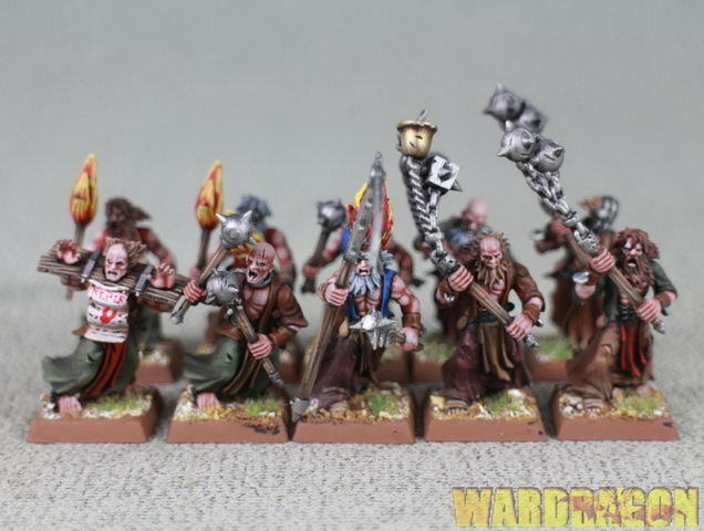 25mm Warhammer WDS painted Empire Flagellants r87