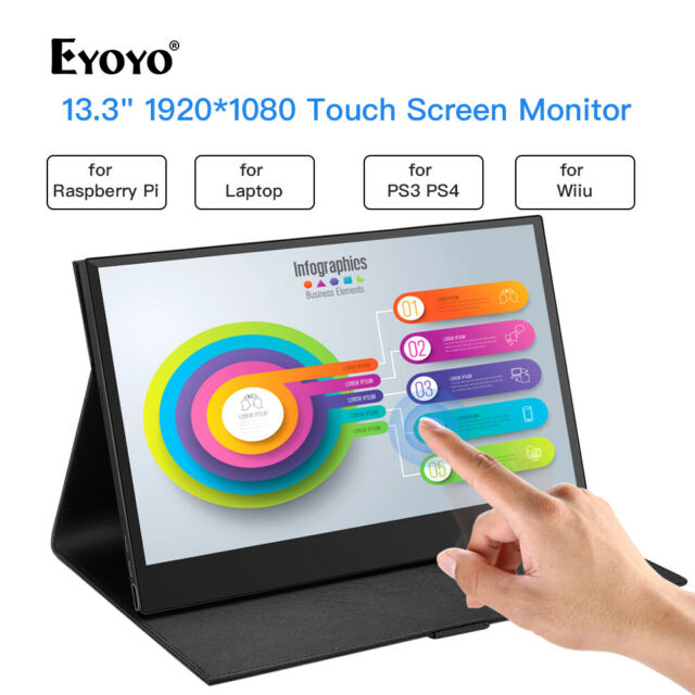 "13.3"" Inch 10 Point Touch Screen Second Monitor for PS3 PS4 Nintendo WiiU Switch"