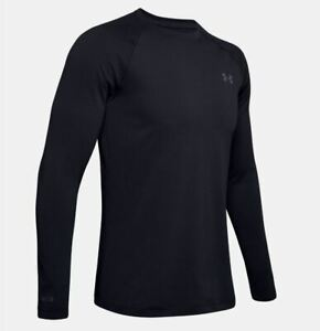 Under-Armour-Men-039-s-ColdGear-Base-2-0-Crew-Long-Sleeve-Shirt-Black-1343244-001