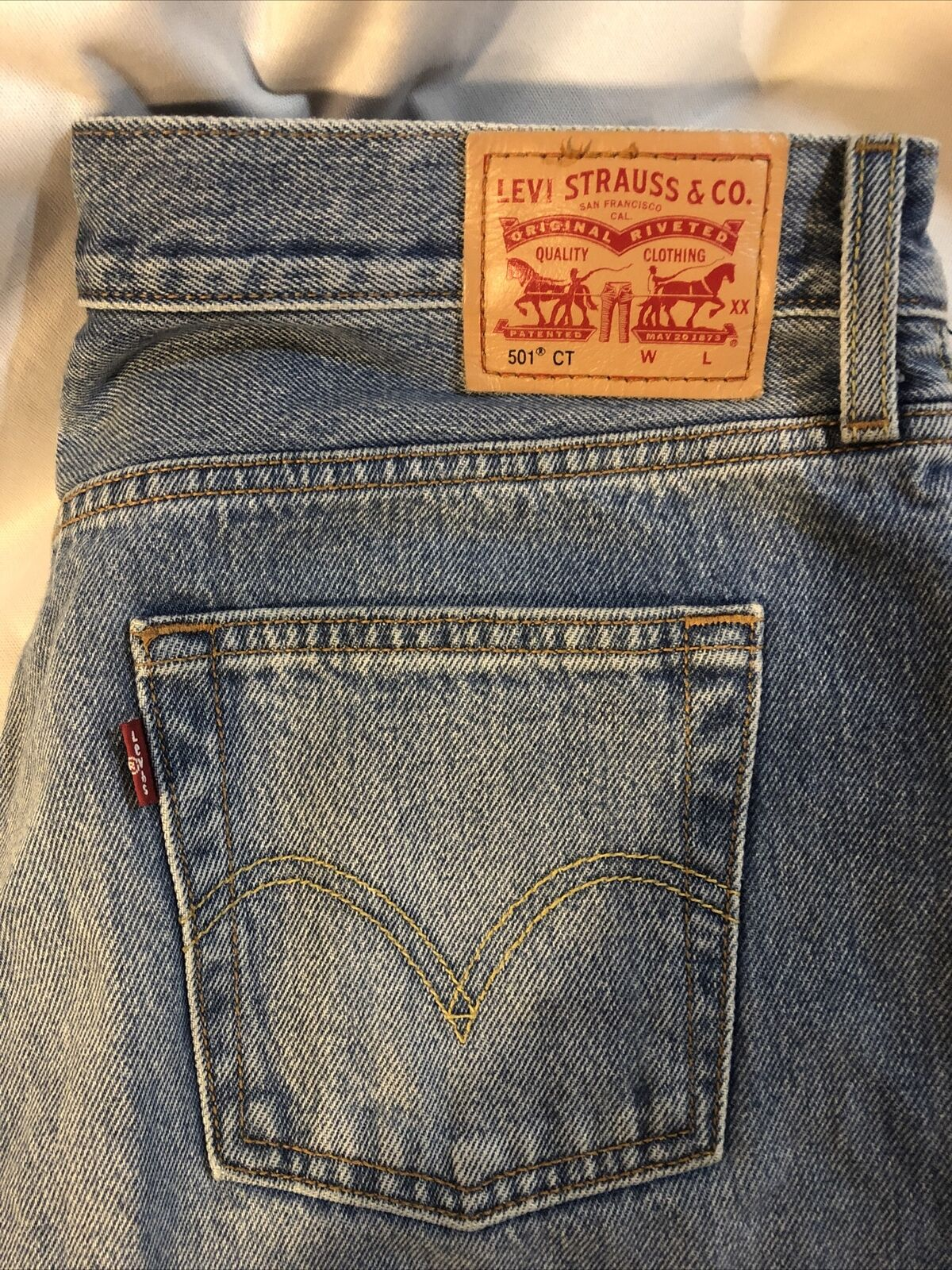 Levis Distressed 501 CT Jeans Size 28/32 - image 2