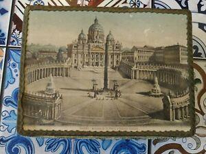 Venchi Antique Boîte De Carton Roma Basilique Saint Pietro, No Étain