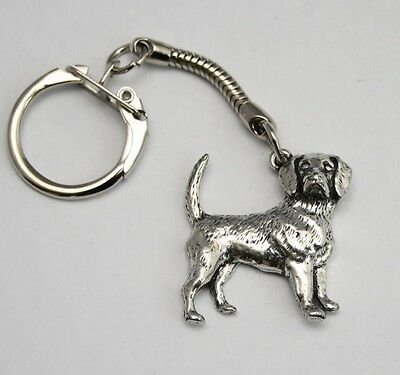 Beagle Dog Key-ring (keychain) in Fine English Pewter, Handmade, Keyring