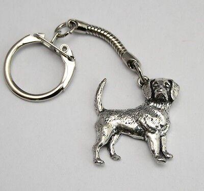 Beagle Dog Key-ring (keychain) in Fine English Pewter, Handmade,