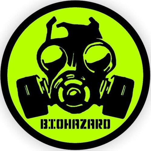 LOT OF 3 BIO-HAZARD GAS MASK SYMBOL HARD HAT STICKER HARD HAT STICKER LAPTOP