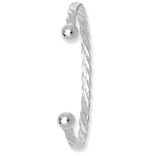 Señoras plata de ley sólido diseño de giro plata esterlina