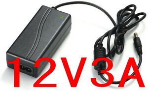 AC 100V-240V Converter Adapter DC 12V 3A 36W Power Supply Charger for LED CCTV