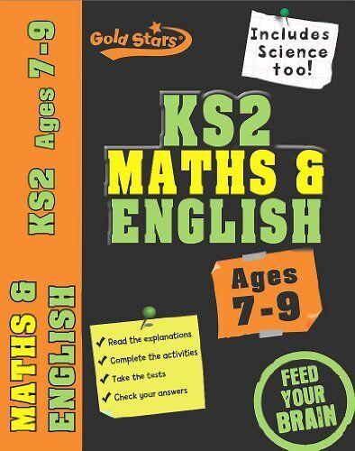 1 of 1 - Gold Stars: Workbook Bind Up KS2 Age 7-9 Maths & English,Gold Stars