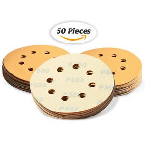 5 inch 500-Grits Hook and Loop Sanding Discs for Orbital Sander 5pcs