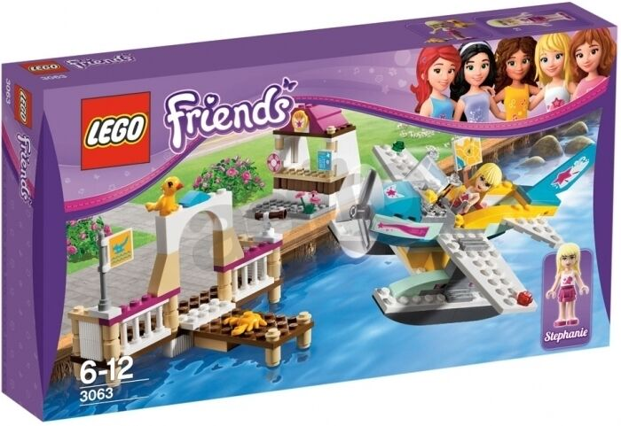 Lego Friends 3063 HEARTLAKE FLYING CLUB Plane Minifigs NISB Xmas Present Gift