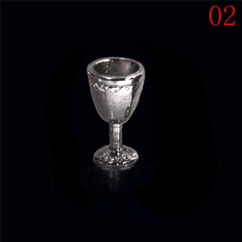 1:12 Casa De Muñecas En Miniatura Cocina De Vidrio Botellas de Cerveza Vino Bebida Taza 1or2X albergue
