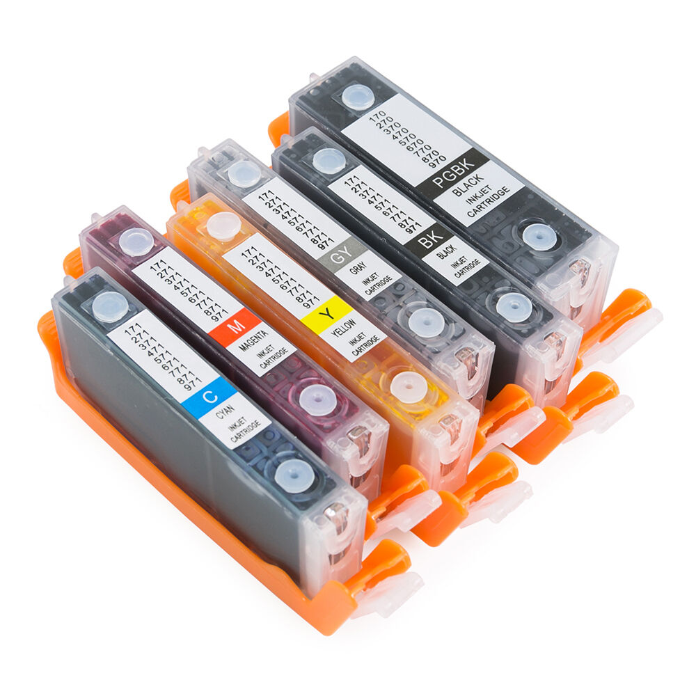 Empty Refillable Ink Cartridges for Canon PGI-270 CLI-271 PIXMA TS8020 TS9020 6C