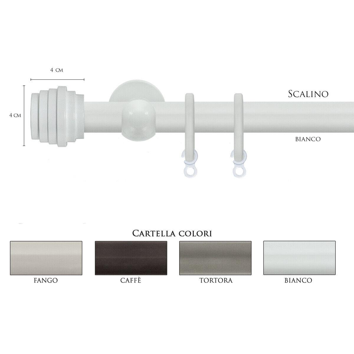 Scorritenda Bastone per Tenda Alluminio Strappo Corda con Anelli SCALINO Vami