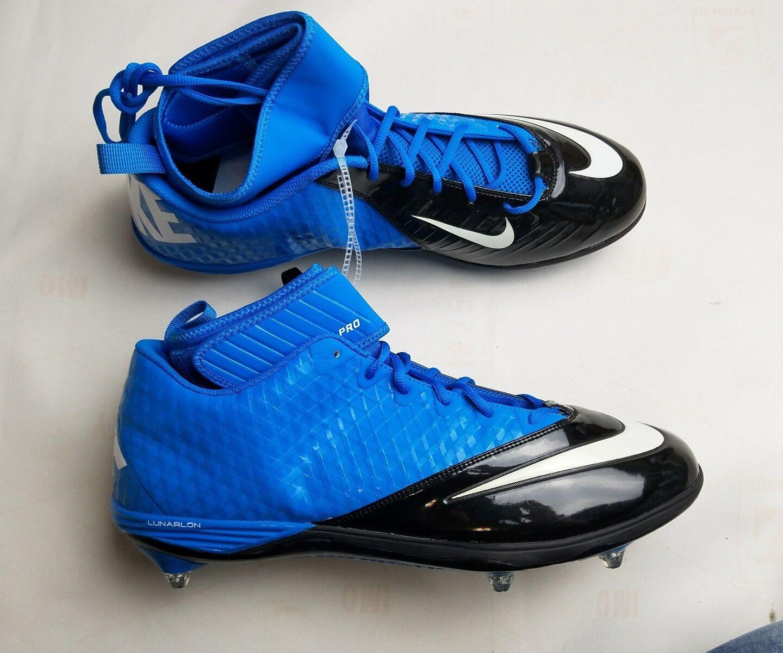 Nike Lunar Superbad Pro TD Mid Mens Football Cleats Blue Jet Black Sz 13 Seasonal price cuts, discount benefits
