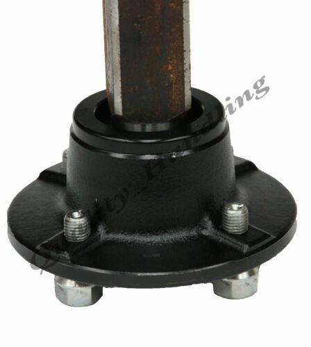 2 Paires Moyeu /& Stub Axes pour Quad Atv Remorque 4 Boutons 100mm Pcd 35x35mm