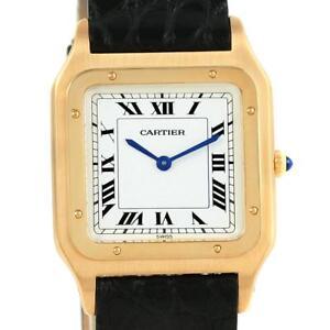 705219c2e95 Cartier Santos Dumont Paris Yellow Gold Manual Watch 15751