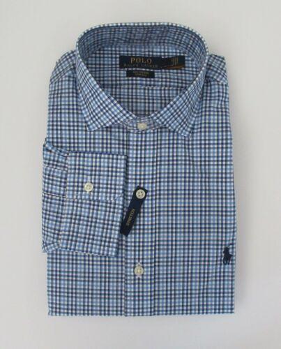 Heren Poplin Ralph Xl Nieuw Plaid Lauren Klassiek Sz 90 Fit L Shirt M Nwt Blauw T4Bqn4W