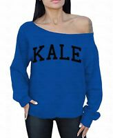 Kale Sweatshirt Off The Shoulder Sweater Vegan Vegetarian Organic Healthy Gym