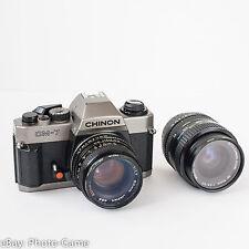 Chinon CM-7 CM7 mechanic film SLR camera + 2 lenses   Flash sync: 1/125s