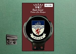 Royale Classic Car Badge & Bar Clip COUNTY OF DEVON B1.1158