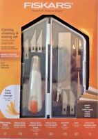 Fiskars Carving, Chiseling, And Sawing Set - Heavy Duty Softgrip Knife Kit Nip