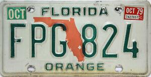 Florida License Plate,  Original  Nummernschild  USA  FPG 824  ORIGINALBILD
