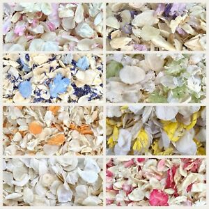 Biodegradable-WEDDING-CONFETTI-IVORY-Dried-FLUTTER-FALL-Real-Throwing-Petals