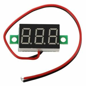 5X-Digital-Voltmeter-Spannung-DC-0-32V-LED-Digital-Platte-fuer-Moto-Meter-A4W7