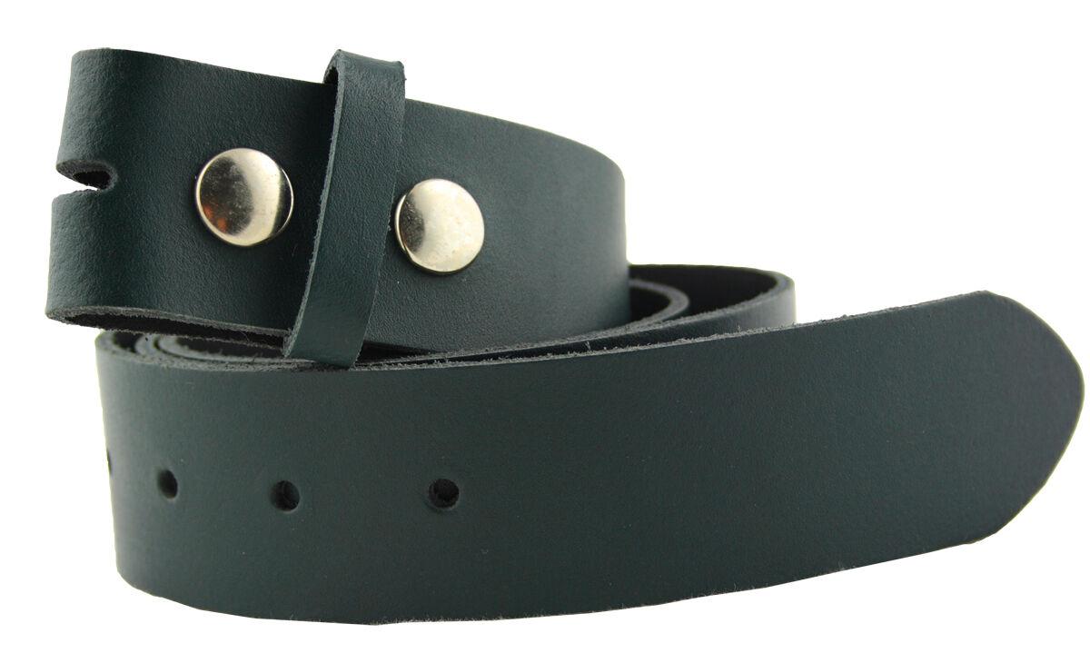Gürtel Leder Wechselgürtel Basic Grün 85cm -130cm