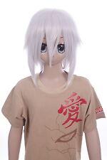W-LD002-1001A weiß silber 38cm COSPLAY Perücke WIG Perruque Hair Anime Manga