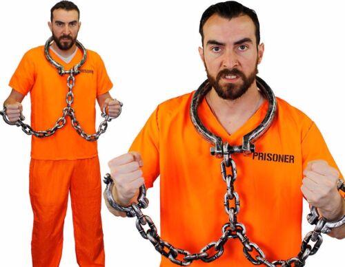 Il prisonnier col et poignet Menottes Bagnard Costume Halloween Robe fantaisie 204