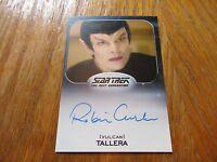 2017 Star Trek 50th Anniversary Robin Curtis As Tallera Autograph