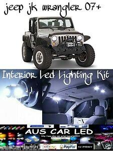 Jeep Jk Wrangler White Led Interior Light Conversion Kit 6 Piece Kit 2007 2014