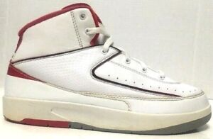 Details about Nike Air Jordan Retro II 2 PS 2014 Shoes White Red Youth 395719 102 Size 3Y