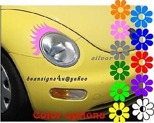Vw Beetle Volkswagen Pink Car Eyelashes Light Headlight Oval Fiat