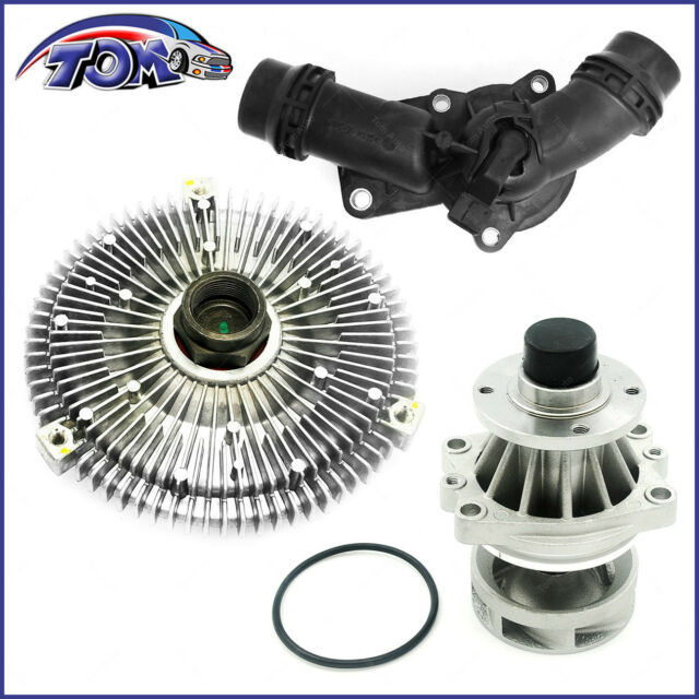 For BMW E46 3 Series 325i 328i 330i 530i X5 Water Pump Fan Clutch Thermostat Kit