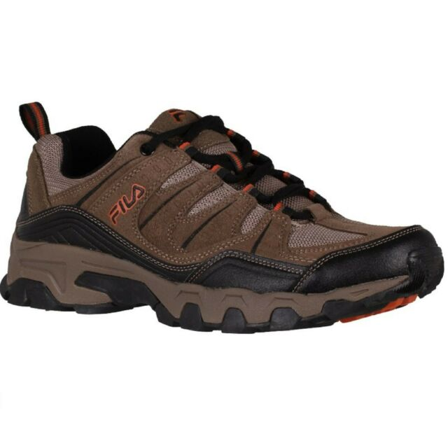 Men's Fila MIDLAND 1QM00014-241 Brown-Orange Lace-Up Athletic Shoes